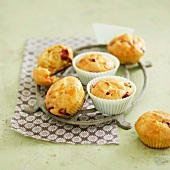 Goat's cheese and beetroot savoury muffins