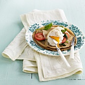 Buckwheat galettes with spinach and a poached egg