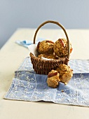 Basket of date and orange muffins
