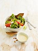 Brown rice mixed salad