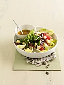 Vitamin salad with diced Munster