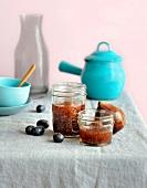 Fig and black grape jam