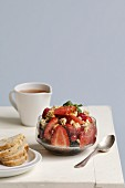 Summer fruit and grapefruit crunchy salad
