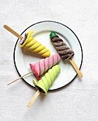 After eight-style ice cream pops