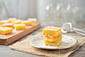 Lemon sponge squares