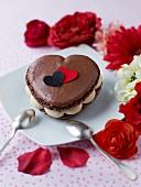 Macaroon-style chocolate heart