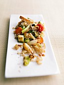Sauteed rice with vegetables