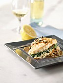 Skate with spinach and capers