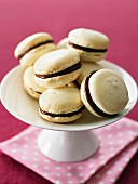 White and dark chocolate macaroons