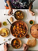 Lamb and pumpkin Tajine