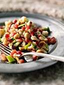 Cauliflower, celery and pomegranate salad