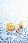 Soft semolina bars woth orange marmelade
