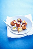 Orange blossom Cannelés with maple syrup