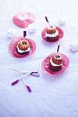 Cannelés (cakes with a caramel crust, Bordeaux) with marshmallows