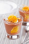 Chocolate and orange mousse