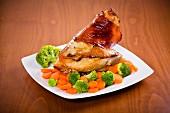 Roasted knuckle of pork
