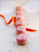 Pink Champagne and raspberry iridescent macaroons