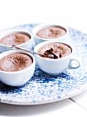 Fondants au chocolat (Saftige Schokoküchlein)