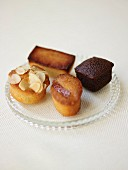 Financier,cake,moist mini orange cake and moist chocolate mini cake