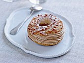 Paris Brest (choux pastry filled with buttercream, France)