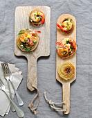 Onion-shrimp bites