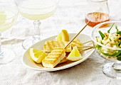 Grilled tofu fingers with lemon