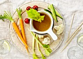 Raw vegetables with anchoyade dip