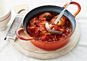 Hähnchen-Tomaten-Schmortopf
