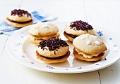 White chocolate and dark chocolate whoopies