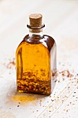 Bottle of spicy oil