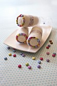 Smarties ice cream push cakes