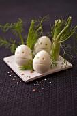 Gespenster-Eier zu Halloween