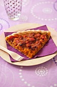 Pumpkin,onion and diced bacon savoury tart