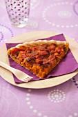 Pumpkin,onion and diced bacon savoury tart