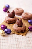 Chocolate macaroon Easter nests