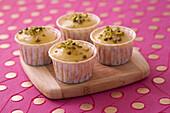 Lemon-pistachio cupcakes