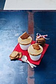 Speculos ginger biscuiticed soufflés