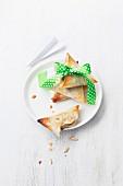 Meat and pine nut samossas