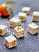 White nougat with clementines