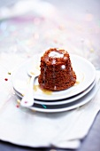 Individual runny toffee pudding