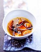 White Port, spices and orange sauce