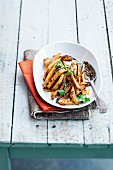 Roasted sweet potatoes with harissa
