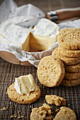 Camembert and sesame seed shortbreads