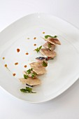 Mackerel with buckwheat galettes