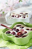 Small cherry pudding