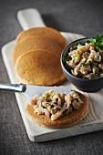 Buckwheat blinis and Breton sardine tartare