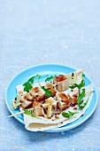 Tofu skewers with soya sauce