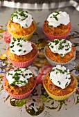 Salmon cupcake