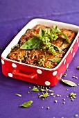 Melanzane Parmigiana, Auberginen mit Tomaten und Mozzarella