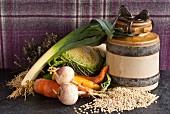Ingredients for Scottish barley soup